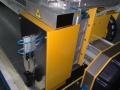 Instalacja modułu lasera w ploterze CNC do cięcia żagli.